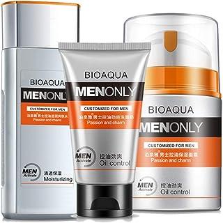 BIOAQUA 3 合 1 控油爽肤水 纯哑光洁面乳 控油 男士 130ml + 100g + 50g