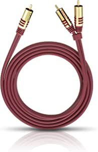 Oehlbach NF 低音炮 Y 型电缆 2 Cinch 紫色20561 1,00 m 红色