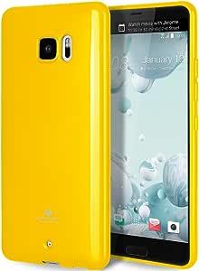 GOOSPERY Marlang HTC U Ultra 手机壳,免费屏幕保护膜【贴合】TPU 手机壳【灵活】HTC UUltra 手机壳【保护】缓冲盖 黄色