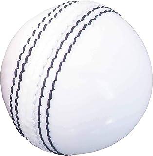 AnNafi 皮革板球白色 A 级 | 硬手工缝制无印章适用于室内和室外练习板球