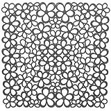 厨房水槽保护垫 - 花朵 灰色 31.5 x 31.5 x 0.1 cm 70503
