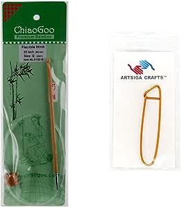 chiaogoo 33cm (厘米) fleixble 钩针挂钩竹 Dark patina 带1个 artsiga CRAFTS stitch 支架