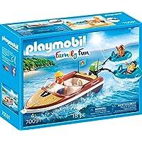 Playmobil 70091 家庭运动船 带趣味轮胎 彩色