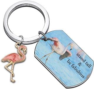 WUSUANED 火烈鸟 礼物支架 高个精美钥匙扣