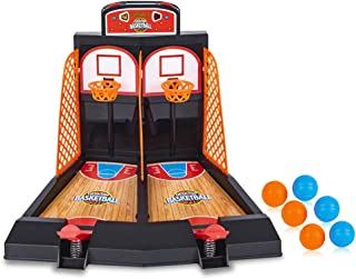 ArtCreativity 桌面街机篮球游戏,桌面室内篮球射击游戏,适合儿童和成人办公桌游戏,男孩和女孩的*佳礼物