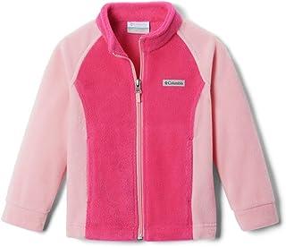 Columbia 女童 Benton Springs 夹克,柔软羊毛,经典款 Cactus Pink/Pink Orchid Medium