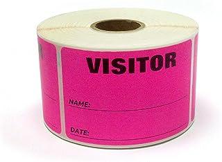 3 x 2 荧光色访客标签,每卷 500 张 粉红色