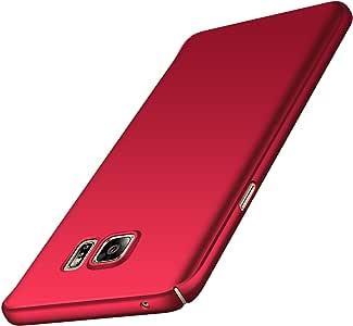 Avalri 三星 Galaxy Note 5 手机壳,超薄防指纹和极简硬 PC 保护套适用于 Galaxy Note 5 丝绸红