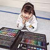 【儿童节日礼物】绘画学习 少儿美术画笔套装 绘画套盒 画画文具 小学生水彩笔 画笔套装 蜡笔水彩笔 儿童绘画文具 画画玩具 168件套装 颜色随机