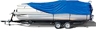 Eevelle Windstorm Boat Cover for Pontoon Boats with Rails and Outboard Motor