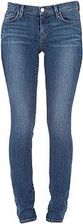 J Brand 女式铁路中腰直筒牛仔裤