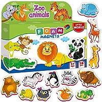 冰箱磁贴适合幼儿 儿童 - 婴儿磁铁 - 泡沫磁铁 - 儿童冰箱磁贴 - 适合孩子的动物磁铁 - 幼儿的动物磁铁 - 儿童冰箱磁铁 - 冰箱幼儿磁铁 - 磁性动物