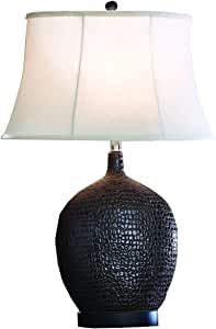 Split P Designs Brown Moc Croc Lamp W/Shade