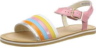 Clarks 女童 Finch Stride K 系带凉鞋