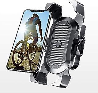自行车手机支架,摩托车手机支架 - 360°旋转自行车支架,单开关锁,通用自行车手机支架兼容 iPhone 11 Xs Max XR X 8 7 6 Plus 三星 S10+ S9 S8,Note 10 9 8