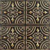 从普通到美丽的时光 205ag-24x24-25 锻铁天花板瓷砖古董金色 25