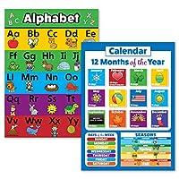 """2 件装 - ABC 字母和一年月/星期几海报套装 18"""" x 24"""" 层压"""