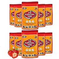 S.O.S. Food Supply Emergency Food Ration 800 Calorie Total, Food 4-tab pack x 10-3 days / 72 Hour - 25 Years Shelf Life Gluten Free and Non-GMO - Strawberry Flavor