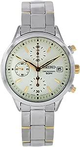 SEIKO 精工 女式石英不锈钢休闲手表,颜色:银色调(型号:SNDY41)