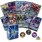 5 个口袋妖怪卡片大量传奇 GX Ultra RARES! NO Duplication! 1 个随机口袋妖怪硬币! 包括金色地狱王甲板盒!