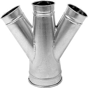 Nordfab Ducting 3226-1508-205075 QF 双分支 45 度 15-8-5-7,15 英寸直径,SS 304