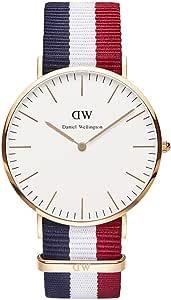 Daniel Wellington 丹尼尔·惠灵顿 Classic系列 时尚男士尼龙表带手表 0103DW(瑞典品牌 保税区发货)