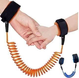 KUEN 2只裝*皮膚防拉棉兒童手腕帶,防丟失腰帶幼兒*帶兒童*牽引繩適用于兒童跑步者學前兒童(長度*大180.34 厘米)