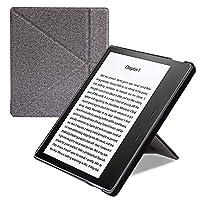 D.Vordingborg Kindle Oasis折叠式支架保护套 7寸 Kindle Oasis 2017款 7寸电子书 站立式保护套 内胆包 壳 皮套 包 带支撑 抗摔防震 轻薄翻盖休眠保护壳 适用于2017全新7寸 Kindle Oasis电子书阅读器 (浅灰色)