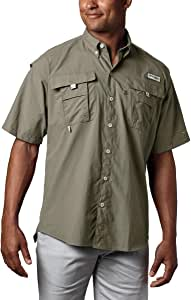 Columbia 男士 PFG Bahama II 短袖透气钓鱼衬衫 XLT 绿色 1011653-365-XLT