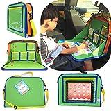 儿童座椅收纳盒可放置蜡笔、iPad Kindle 或其他平板电脑。 非常适合旅途和旅行,可用作纸盒写字表面或用于供 3 岁以上儿童使用电子产品