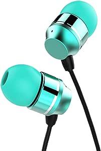 kworld 耳内 earbud 有线耳机专为音乐 listening 带4种尺寸 OF 子弹型耳塞制造适用于所有3.5mm 接口设备 绿色