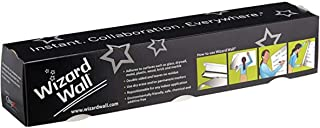 "Wizard Wall Self Adhesive Dry Erase Roll System, Patented Static Adhesive Technology, Reusable And Self Cutting, 27.5"" x 2..."
