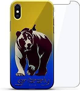 Luxendary 渐变系列 360 套装:透明超薄硅胶保护套 + 适用于 iPhone Xs Max 的钢化玻璃(6.5 英寸)LUX-IMXCRM2B360-BEAR2 ANIMALS: Grizzly Bear 蓝色(Dusk)