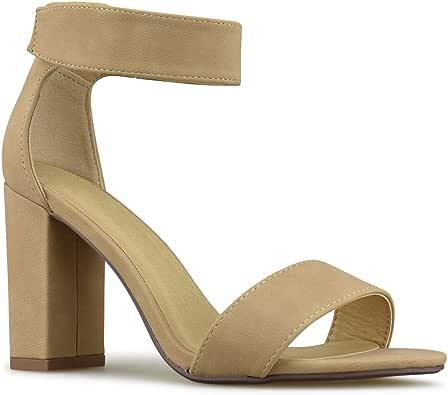 Premier Standard - 女式系带粗跟高跟鞋 - 正式,婚礼,派对简约经典高跟鞋 Natural Nbpu E. 11 Wide