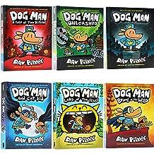 英文原版 Dog Man神探狗狗的冒险6册精装合售 幽默漫画全彩章节桥梁书 内裤超人同作者 Dav Pilkey