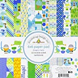 "Doodlebug Double-Sided Paper Pad 6""X6"" 24/Pkg-Dragon Tails"