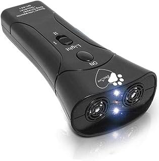 PetsCare 手持防吠装置超声波狗狗吠叫威慑器带多功能狗吠控制。宠物防吠消音器和训练器无项圈室内和室外停止吠叫狗狗设备