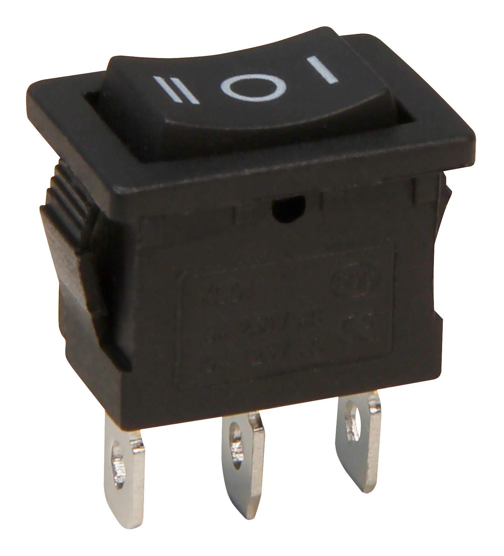 McPower 1323077ブラックロッカー極ロッカースイッチ3 AC 250 V / 6