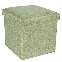Naphele奈菲乐 麻布收纳凳收纳箱内衣收纳盒整理箱储物箱 ST04 (草绿色)