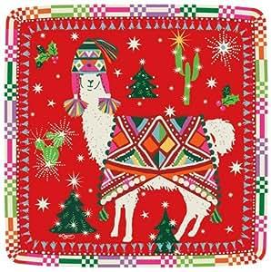 纸巾和盘子圣诞派对节日派对波西米亚美洲驼派对玩具 多种颜色 Salad Plates Pack of 16 14770SP