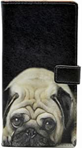 Galaxy S8 Case Pattern Leather Wallet Case Stand Cover with Card Slots for Samsung Galaxy S8 New Arrival Cute Pug Dog