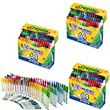 Crayola 64 支可水洗马克笔 (58-8764) 3 Pack