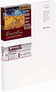 Masterpiece Artist Canvas Vincent Pro Canvas 22-Inch by 30-Inch, Acrylic Primed Muir Belgian Linen