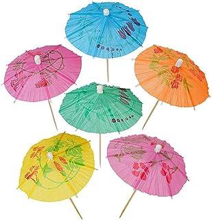 Kicko 纸制遮阳伞 - 288 包 - 木棒上的鸡尾酒伞 - 用于饮料配件,工艺用品,桌子装饰,庆祝,主题派对
