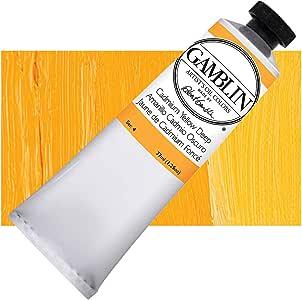 Gamblin 艺术家油漆 - 单支 37 毫升管 Cadmium Yellow Dp Single 37ml Tube GB1190
