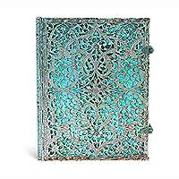 paperblanks 爱尔兰 Silver Filigree系列横线笔记本大号 玛雅蓝 PB2560-3