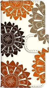 智能手机壳 手册式 对应全部机型 印刷手册 wn-673top 套 手册 花朵图案 UV印刷 壳WN-PR061457-MX AQUOS Xx2 502SH B款