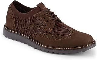Dockers 男士 Hawking 针织/皮革智能系列连衣裙休闲翼纹牛津鞋 NeverWet 棕色 8.5