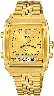 Pulsar casual 男 指针数字 石英 钟表 同 不锈钢 镯子 PBK036X2