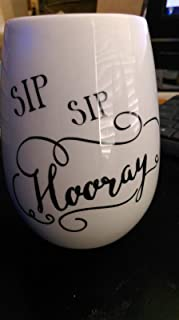 Youngs Sip Hooray 陶瓷无*杯,礼盒包装